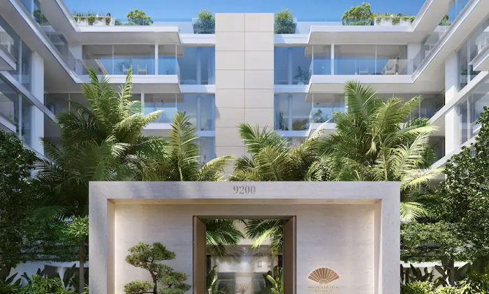 Mandarin Oriental Residences, Beverly Hills, at 9200 Wilshire Boulevard - Exterior