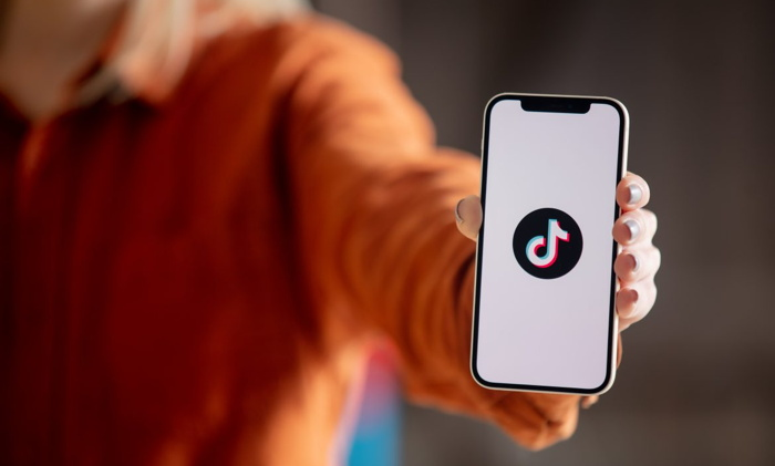 TikTok logo on a cell phone screen - Source STAAH