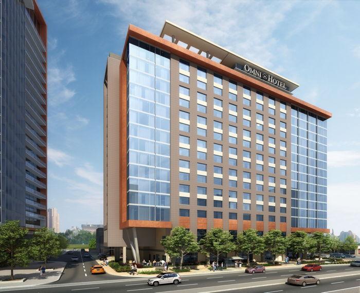 Representación del hotel Omni Tempe en ASU