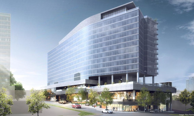 Rendering of the W Nashville Hotel