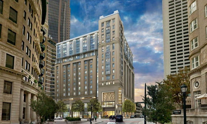 Rendering of the dual-branded Courtyard by Marriott Atlanta Midtown and Element by Westin Atlanta Midtown