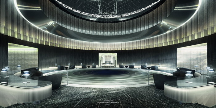 Rendering of the Steigenberger Porsche Design Hotels concept - Lobby